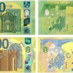 Cum arată noile bancnote de 100 şi 200 de euro, puse în circulaţie de BEC/ O hologramă-satelit şi un număr verde-smarald optimizat sporesc rezistenţa la contrafacere