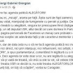 Giorgi(PSD): USR, un partid în care se împart gradele și se văd epoleții