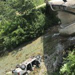 TRAGEDIE: MORȚI după ce au aterizat cu mașina în albia Gilortului
