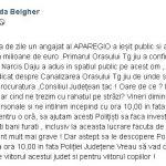 Belgher se pregătește de PROTESTE în fața sediului IPJ Gorj