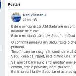 10:21 Deputatul Vîlceanu: Este o MINCIUNĂ că UM Sadu are în cont 5 milioane de euro