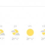 7:50 Vremea, azi, 16 septembrie