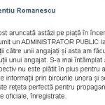 08:41 Romanescu NEAGĂ numirea unui administrator public