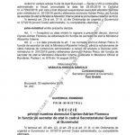 13:10 Ciprian Florescu, mutat la Secretariatul General al Guvernului