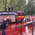 Ministerului britanic al Finanţelor din Londra, stropit cu 1.800 de litri de sânge fals