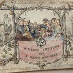 Cum arată prima felicitare de Crăciun tipărită, din 1843. Obiectul a fost expus la Londra