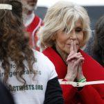 Celebra actriţă Jane Fonda, arestată la Washington pentru a patra oară în ultima lună
