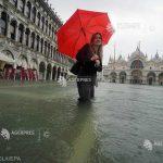 Italia, probleme în urma precipitaţiilor abundente. Veneţia, din nou acoperită de apă