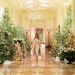 Un spectacol de lumini și ornamente! Cum a decorat Melania Trump Casa Albă de sărbători. VIDEO