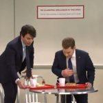 Român alungat de Macron, Johnson şi Trudeau din cantina NATO, în cel mai recent episod al Saturday Night Live