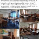 """11:07 Sală de sport și amfiteatru la Școala Gimnazială """"Constantin Săvoiu"""""""