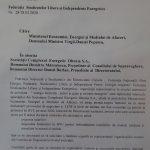 14:51 Sindicatele din CE Oltenia: Există riscul izbucnirii unor conflicte spontane. DOCUMENT