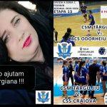08:57 Campanie umanitară pentru o tânără mămică, la meciurile CSM Târgu-Jiu