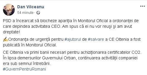 15:29 OUG pentru CE Oltenia, PUBLICATĂ în Monitorul Oficial