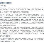 16:28 Fost lider PNL, atac la guvernanți după reținerea medicului Beuran