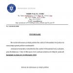 11:50 Tribunalul Gorj reia activitatea. ANUNȚ