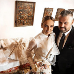 Roxana Ionescu s-a căsătorit civil cu Tinu Vidaicu