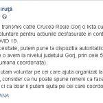 16:31 USR Târgu-Jiu oferă VOLUNTARI în lupta cu coronavirusul