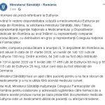 15:36 Ministerul Sănătății: Peste 50.000 de cutii de Euthyrox, DISTRIBUITE