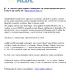 14:43 ALDE: Petiţie privind amenajarea de spitale temporare pentru bolnavii de COVID-19