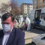 Primăria Târgu-Jiu a început dezinfecția scărilor de bloc