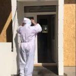 Tunel de decontaminare, combinezoane și măști, DIN DONAȚII, la Spitalul Motru