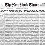 11:41 New York Times şi-a umplut prima pagină cu nume de persoane decedate din cauza COVID-19