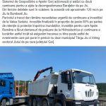16:36 Apele Române, DEMERSURI pentru preluarea investițiilor de la Valea Sadului