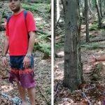 19:02 ŞOCANT! A stat 3 zile în pădure după ce s-a legat cu un lanţ de un copac