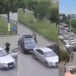 15:46 VIDEO. Răfuială în trafic între două clanuri interlope