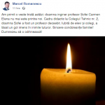 10:14 Marcel Romanescu, mesaj de condoleanţe după decesul unui dascăl din Târgu-Jiu