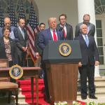 """08:14 Trump: SUA au """"depăşit cu mult"""" pandemia Covid-19"""