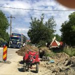 Lucrări la foc continuu în Alimpești. Când va fi gata rețeaua de apă