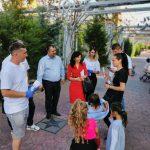 10:22 Luminița Popescu a început întâlnirile cu târgujienii