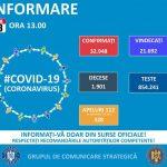 13:07 413 cazuri NOI de coronavirus în România. Peste 500 de asimptomatici s-au EXTERNAT la cerere