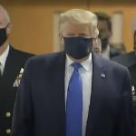 Donald Trump, pentru prima dată cu MASCĂ