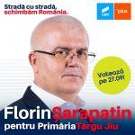 PROMOVARE ELECTORALĂ: Florin Șarapatin, candidat USR-PLUS Primăria Târgu-Jiu