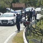 15:30 Accident la Novaci. A lovit cu mașina un motociclist