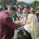Marcel Ciolacu, întâlnire cu mătuşa, la Bălești