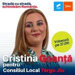 PROMOVARE ELECTORALĂ: Cristina Goanță, candidat USR-PLUS Consiliul Local Târgu-Jiu