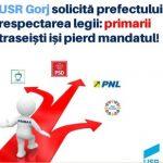 16:59 USR solicită încetarea mandatelor primarilor traseiști
