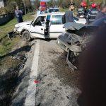 15:42 Accident la Roșiuța. Două persoane, la spital