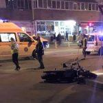 21:03 Târgu-Jiu: Motociclist la spital în urma unui accident