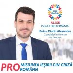 PROMOVARE ELECTORALĂ: Alexandru Baicu Ciudin, candidat Pro România Senatul României