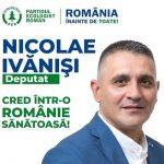 PROMOVARE ELECTORALĂ: Nicolae Ivăniși, candidat Partidul  Ecologist Român la Camera Deputaților