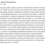 17:54 Scade rata de infectare în Târgu-Jiu. Romanescu: Ieşim din zona roşie