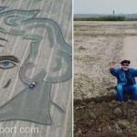 Portret uriaş al lui Beethoven, pe un câmp în nordul Italiei