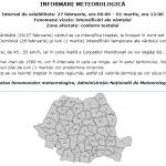 08:43 Alertă meteo emisă de ANM pentru întreaga țară