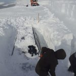 VIDEO Rânca: Mașini îngropate complet în zăpadă