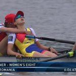Medalie de aur în proba de canotaj 8+1 feminin la Campionatele Europene. Romanescu: Felicitări, Denisa Tîlvescu!